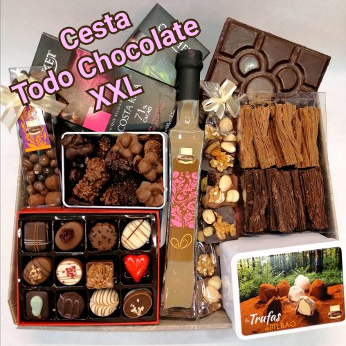 cesta todo chocolate